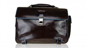 Briefcase  Piquadro Blue square CA1066B2 MOGANO