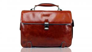 Briefcase  Piquadro Blue square CA1066B2 ARANCIO