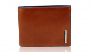 Man wallet Piquadro Blue square PU1239B2 ARANCIO