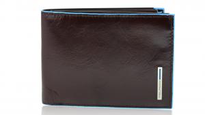 Man wallet Piquadro Blue square PU1392B2 MOGANO