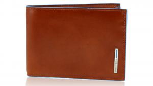 Man wallet Piquadro Blue square PU1392B2 ARANCIO