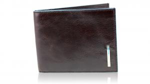 Man wallet Piquadro Blue square PU1241B2 MOGANO