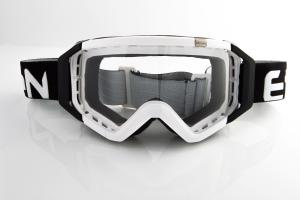 Maschera Ethen DIRT GOOGLES ZeroCinque MX0501 per Sport fuoristrada. Bianco/Nero