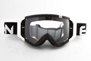 Maschera DIRT GOOGLES ZeroCinque MX0502 per Sport fuoristrada. Nero/Bianco