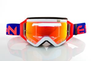 Maschera Ethen DIRT GOOGLES ZeroCinque MX0503 per Sport fuoristrada. Blu royal/Rosso fluo