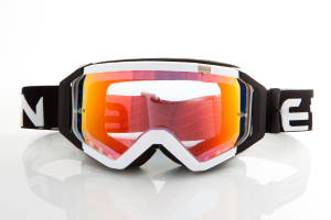 Maschera Ethen DIRT GOOGLES ZeroCinque MX0504 per Sport fuoristrada. Nero/Bianco