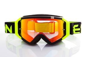 Maschera DIRT GOOGLES ZeroCinque MX0508 per Sport fuoristrada. Nero/Giallo Fluo