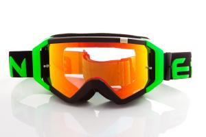 Maschera DIRT GOOGLES ZeroCinque MX0510 per Sport fuoristrada. Nero/Verde Fluo
