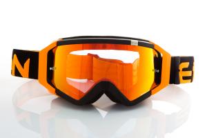 Maschera DIRT GOOGLES ZeroCinque MX0511 per Sport fuoristrada. Nero/Arancio Fluo