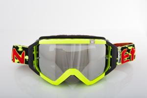 Maschera Ethen DIRT GOOGLES ZeroCinque MX0521 per Sport fuoristrada. Nero/Rosso/Giallo Fluo/Maculato