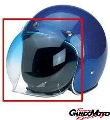 Visiera bubble sfumata blu