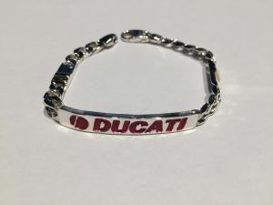 Bracciale Scritta Ducati in Argento
