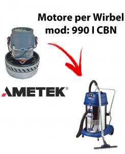 990 IK CBN MOTORE AMETEK aspirazione per aspirapolvere e aspiraliquidi WIRBEL