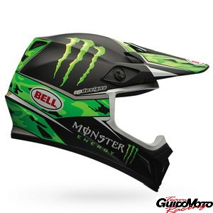 Casco cross BELL MX-9 PRO CIRCUIT REPLICA Monster, taglia S, nero/verde opaco