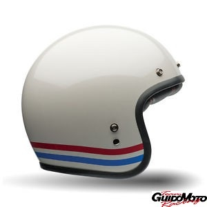 Casco BELL CUSTOM 500 STRIPES Pearl White - taglia XL