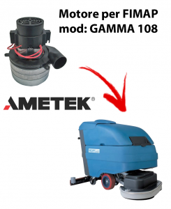 Motore aspirazione Ametek per Lavapavimenti Fimap GAMMA 108