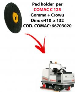 TRASCINATORE ( pad holder) per lavapavimenti COMAC C 125.