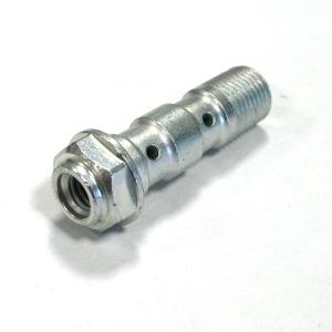 Bullone forato per raccordi freno M10x1,25 lungo foro per sfiato M6