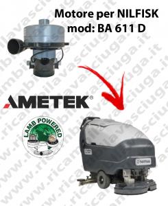 BA 611 D MOTORE aspirazione LAMB AMETEK per lavapavimenti NILFISK