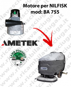 Motore aspirazione Lamb Ametek per Lavapavimenti Nilfisk BA 755