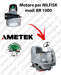 Motore aspirazione Lamb Ametek per Lavapavimenti Nilfisk BR 1000