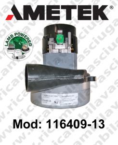 Motore aspirazione 116409-13 LAMB AMETEK per lavapavimenti