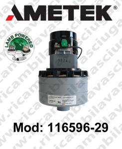 Motore Aspirazione 116596-29 LAMB AMETEK per lavapavimenti