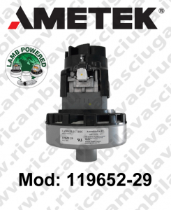 Motore aspirazione 119652-29 LAMB AMETEK  per lavapavimenti