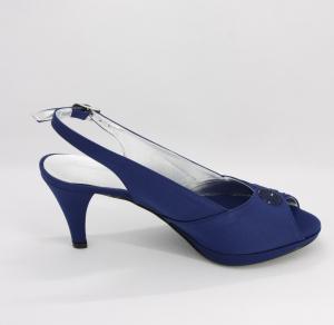 Sandalo donna cerimonia elegante in tessuto con applicazioni in cristallo e cinghietta regolabile Art. DANIELA LUCY50P