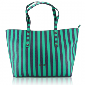 Shopping bag Liu Jo STRIPES N16225 E0087 FULL GREEN STRIPE