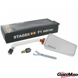 Specchio STAGE6 F1, destre, bianco , 8 mm.