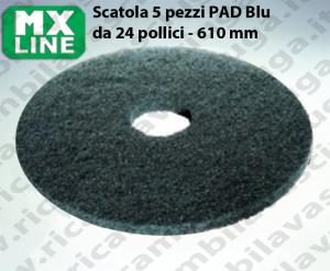 PAD MAXICLEAN 5 PEZZI color Blu da 24 pollici - 610 mm | MX LINE