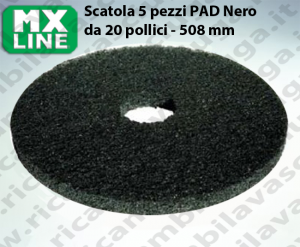 PAD MAXICLEAN 5 PEZZI color Nero da 20 pollici - 508 mm | MX LINE