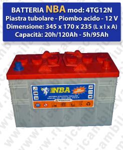 4TG12N Batteria piombo - NBA 12V 120Ah 20/h