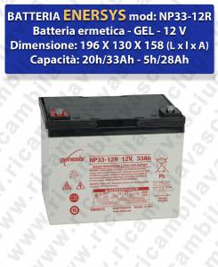 Batterie GEL NP33-12R ENERSYS per lavapavimenti