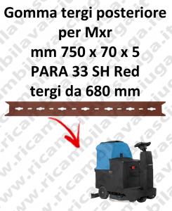 MXR Gomma tergipavimento posteriore per lavapavimenti FIMAP