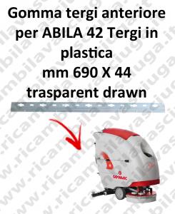ABILA 42 Gomma tergipavimento anteriore per lavapavimenti COMAC