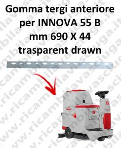 INNOVA 55 B Gomma tergipavimento anteriore per lavapavimenti COMAC