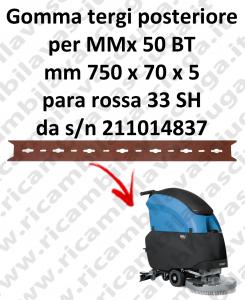 MMx 50 BT Gomma tergipavimento posteriore per lavapavimenti FIMAP s/n 211014837