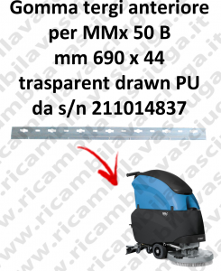 MMx 50 B s/n 211014837 Gomma tergipavimento anteriore X lavapavimenti fimap