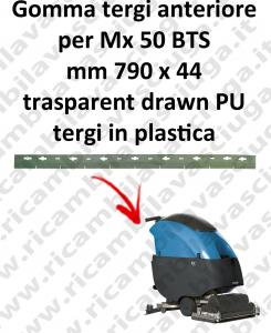 Gomma tergipavimento anteriore X lavapavimenti FIMAP Mx 50 BTS