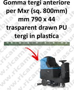 Gomma tergipavimento anteriore X lavapavimenti FIMAP Mxr squeegee 800mm