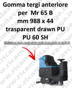 Gomma tergipavimento anteriore per lavapavimenti FIMAP - Mr 65