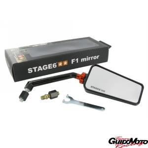 Specchio retrovisore Stage6 F1 destro nero M10