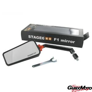 Specchio Stage6 F1 sinistro nero M10