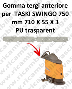 Gomma tergipavimento anteriore per lavapavimenti TASKI Swingo 750