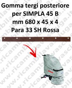 GOMMA TERGIPAVIMENTO posteriore per lavapavimenti SIMPLA 45 B COMAC
