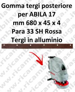 Gomma tergipavimento posteriore per lavapavimenti COMAC modello ABILA 17