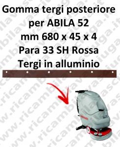 Gomma tergipavimento posteriore per lavapavimenti COMAC modello ABILA 52