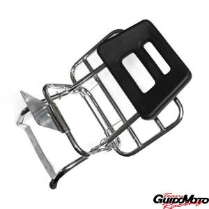 Portapacchi posteriore cromato Vespa PX - PE  con schienale 177DIRCDDN